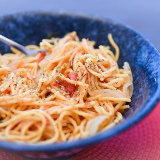 One-pot spaghetti in under ten minutes - featured image - fiveforafiver