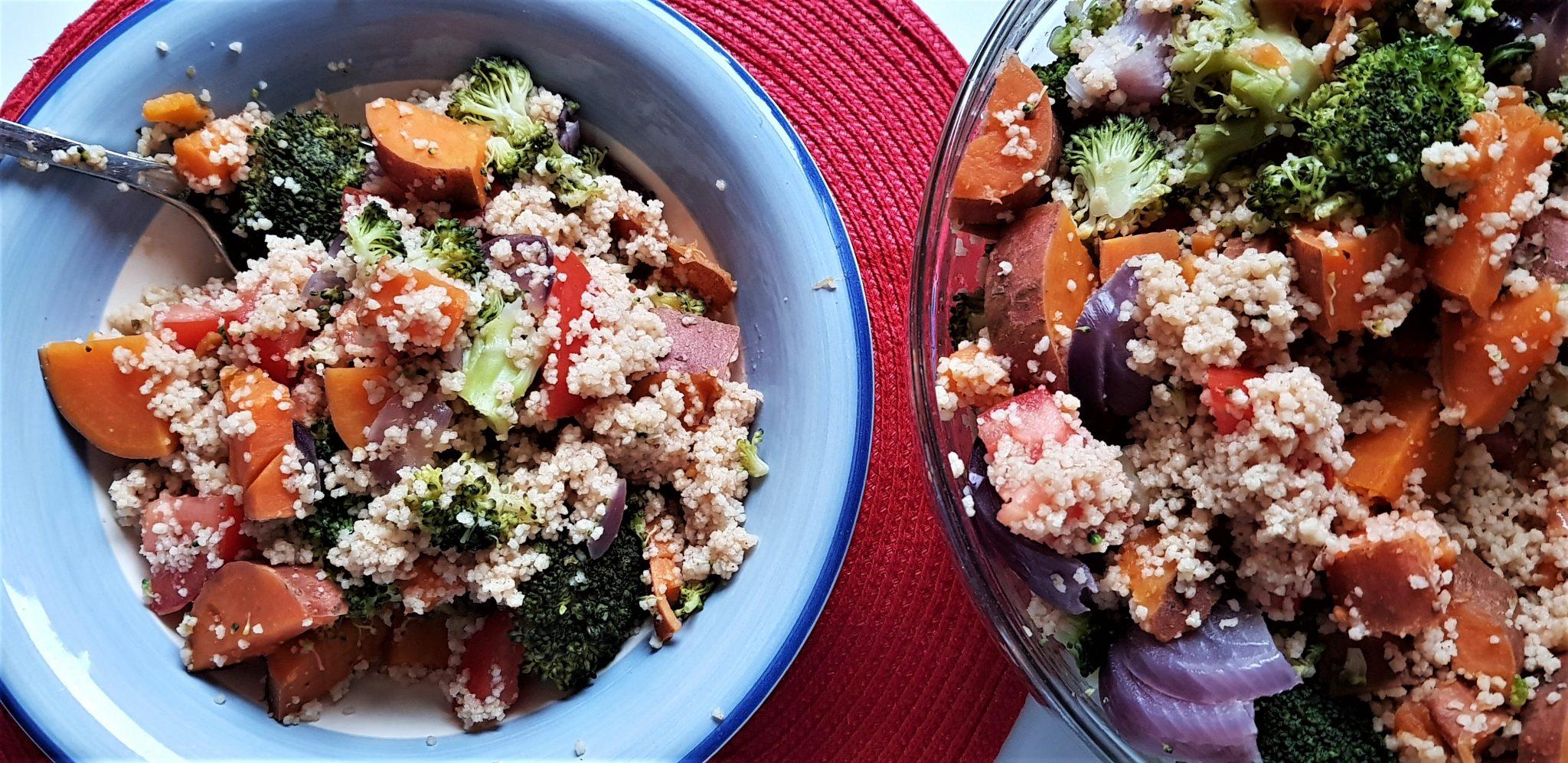 Sweet Potato, Broccoli and Tomato Couscous