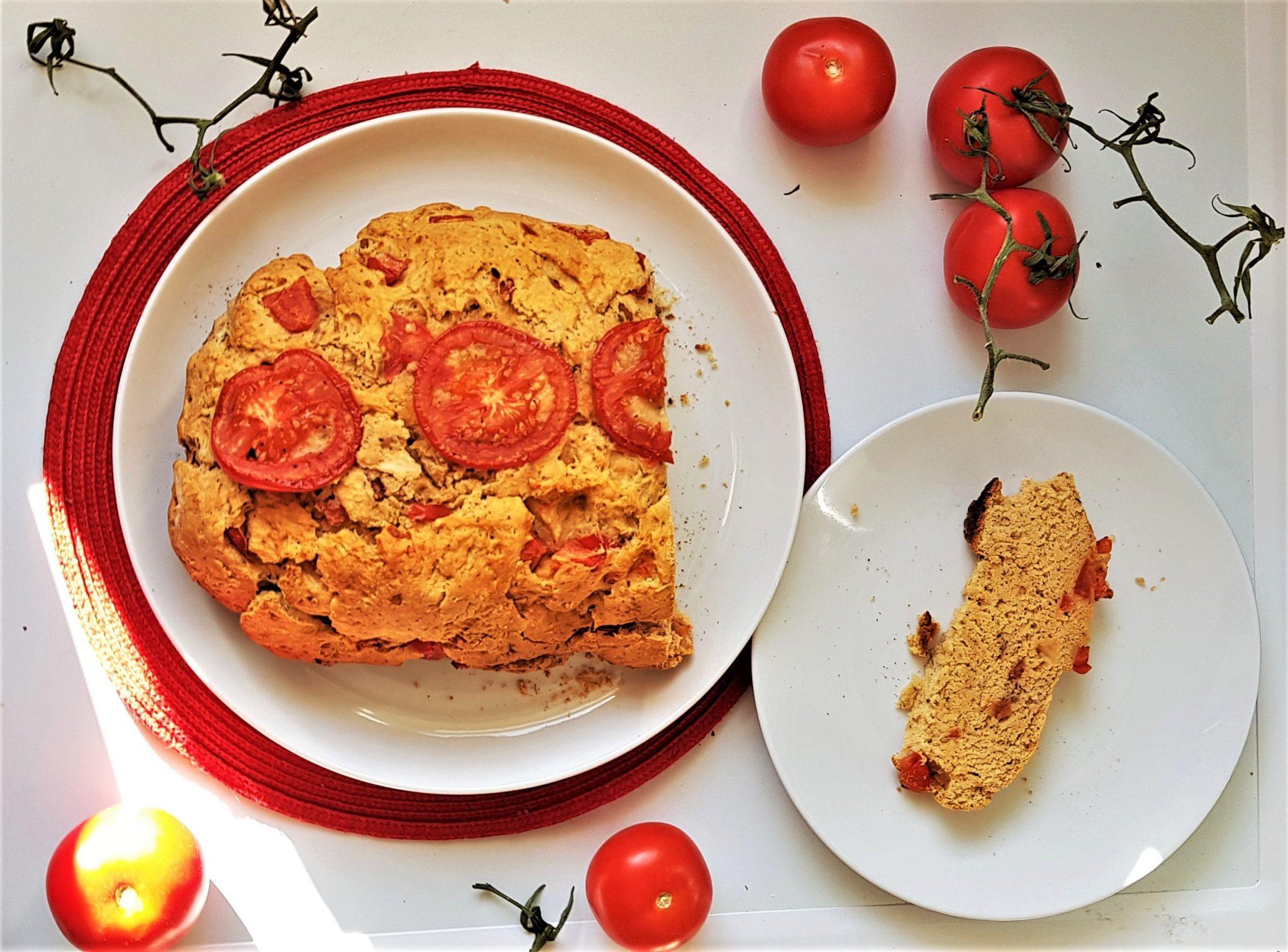 5-ingredient yeast free tomato bread - fiveforafiver